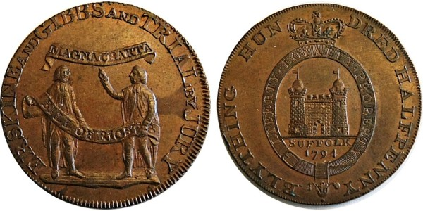 Middlesex Halfpenny. 1794.  DH 1012