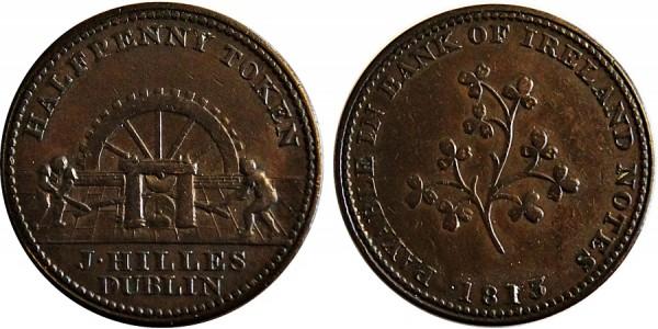 Dublin. Hille's Halfpenny Token.1813 W.1820