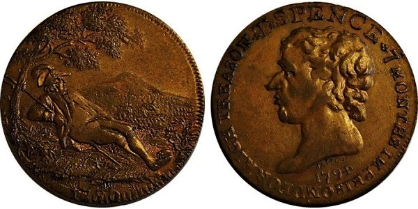 Middlesex. Spence's Mule Halfpenny.  DH 690b