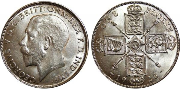 George V, Silver Florin 1926