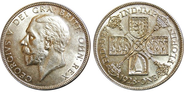 George V, Silver Florin 1928