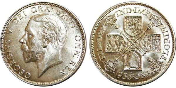 George VI, Silver Florin, 1936
