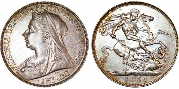 Victoria Silver Crown 1894 LVII