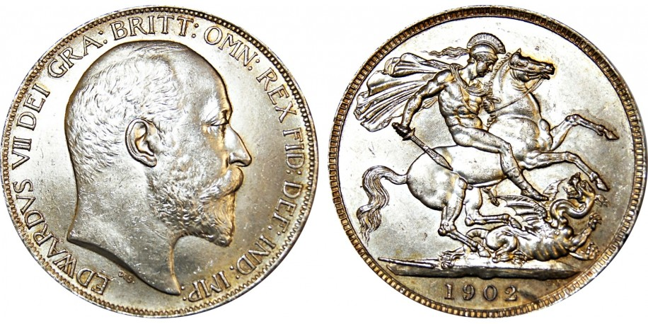 Edward VII, Silver Crown, 1902.