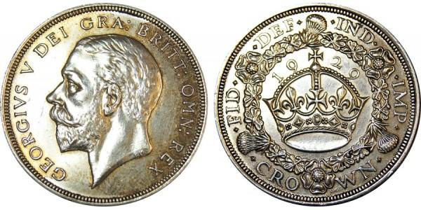 George V. Wreath Crown, 1929.