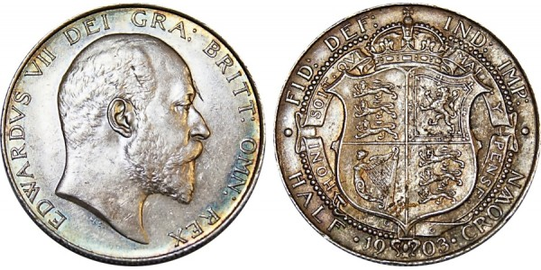 Edward VII, Silver Half-crown 1903