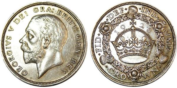 George V. Wreath Crown, 1928