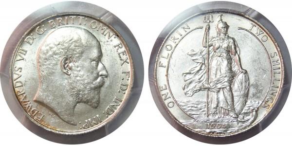 Edward VII, Silver Florin, 1904.