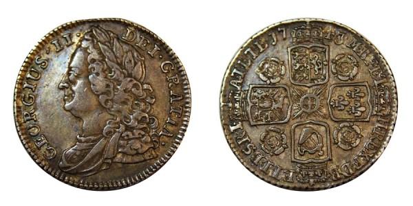 George II, Silver Sixpence, 1743.