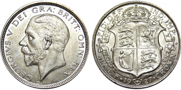 George V, Silver Half-crown. 1927.