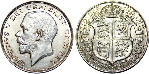 George V, Silver Half-crown, 1923