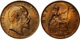 Edward VII, Bronze Penny, 1902. LT