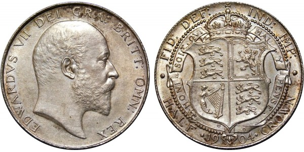 Edward VII, Silver Half-crown 1904