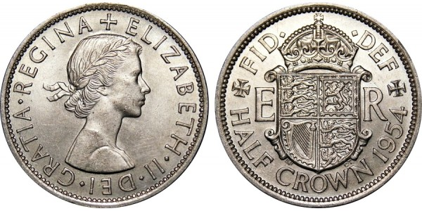 Elizabeth II, Half-crown. 1954.