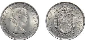 Elizabeth II, Half-crown. 1958