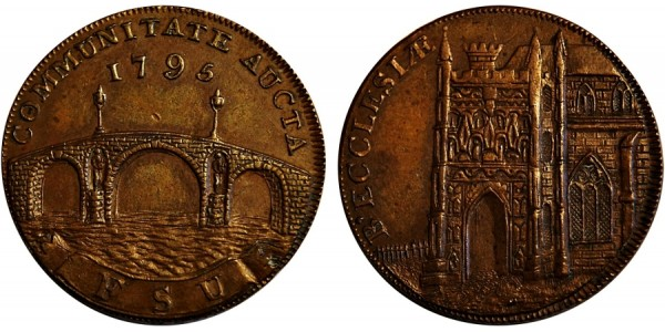 SUFFOLK. Beccles Halfpenny.1795. DH 16