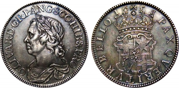 Oliver Cromwell Silver Crown. 1658/7