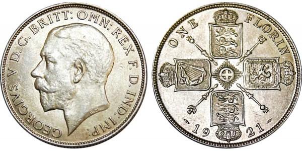 George V, Silver Florin 1921