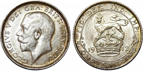 George V, Silver Shilling, 1912.