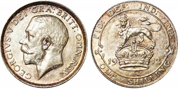 George V, Silver Shilling. 1912.