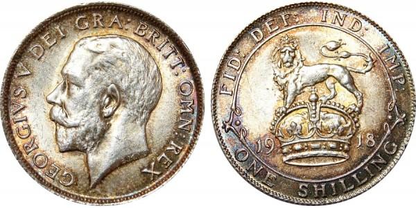 George V, Silver Shilling, 1918