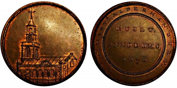 Middlesex. St Mary's Halfpenny.  DH 539c