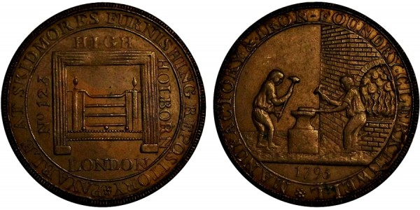 Middlesex. Skidmore's Halfpenny. 1795 DH480