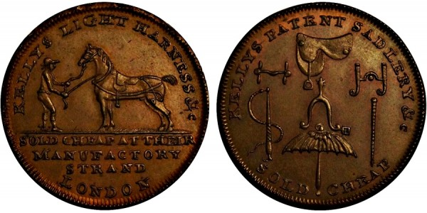 Middlesex. Kelly's Halfpenny.  DH 345c
