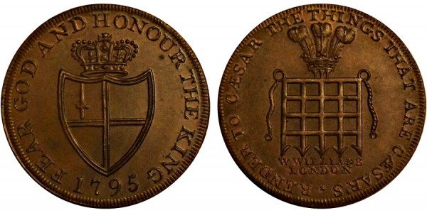 Middlesex. Williams' Halfpenny.  1795. DH 915.