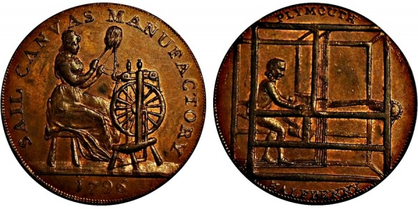 Devonshire. Plymouth Halfpenny.  1796. DH 6a