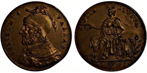 Scotland. Ayrshire Halfpenny. 1797. DH 3