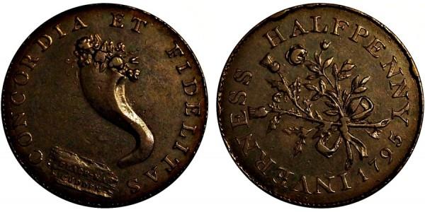 Scotland. Inverness-shire Halfpenny. 1795. DH 3.