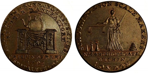 Middlesex. Schooling & Son Halfpenny. 1795. DH 474.