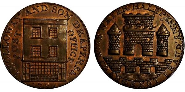 Somerset. Bridgewater Halfpenny.  1794. DH 86.