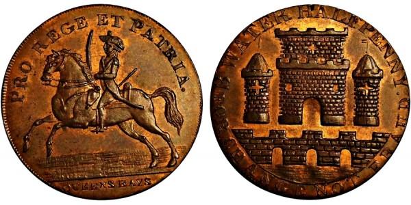 Somerset. Bridgewater Halfpenny. 1796.  DH 87.