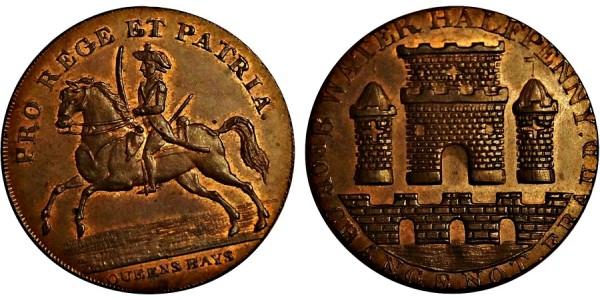 Somerset. Bridgewater Halfpenny. 1796. DH 87