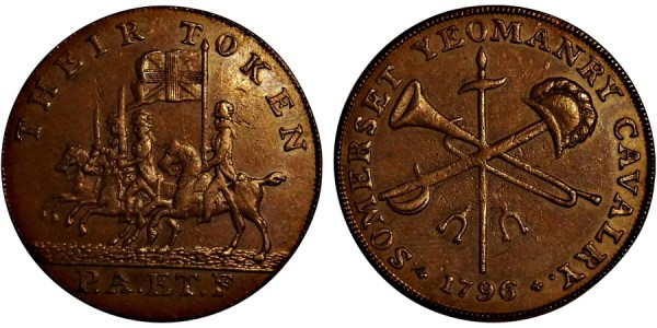 Somerset. County Halfpenny.  1796. DH 24.