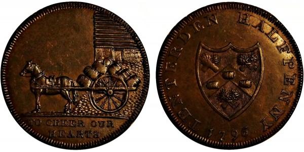 Kent. Tenterden Halfpenny.  1796. DH42.