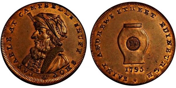 Scotland. Midlothian Halfpenny. 1795. DH 13a.