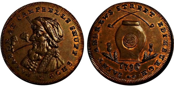 Scotland. Midlothian Halfpenny. 1796 DH 14.
