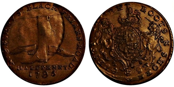 Middlesex. Barnett Guest's Halfpenny. 1795. DH 308.