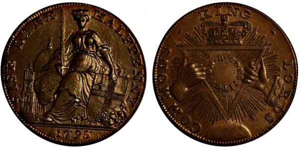 Middlesex. Davidson's Halfpenny. DH 295.