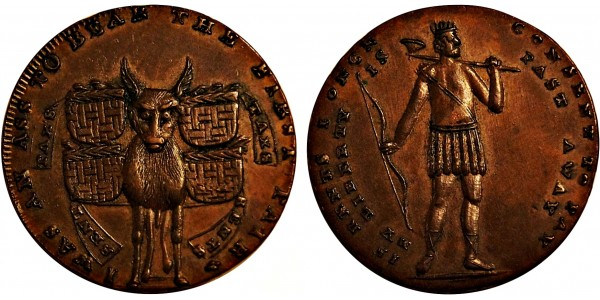Middlesex. T Spence's Mule Halfpenny. DH 719.