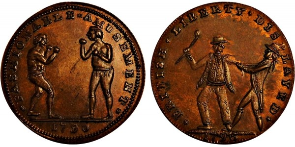 Middlesex. T Spence's Mule Halfpenny. DH 726A