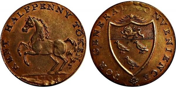 Kent. Goudhurst Halfpenny. 1794. DH 28a.