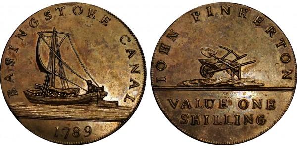 Hampshire. Basingstoke Shilling. 1789. DH 1.