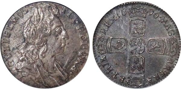 William III, Silver Sixpence, 1696.