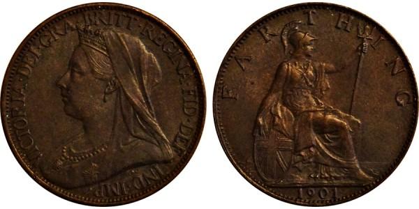 Victoria, Copper Farthing. 1901