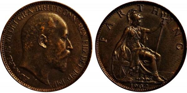 Edward VII, Bronze Farthing. 1902