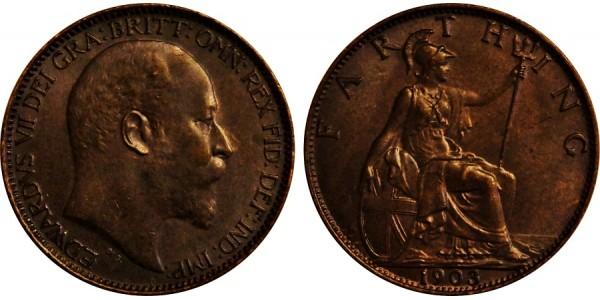 Edward VII, Bronze Farthing. 190